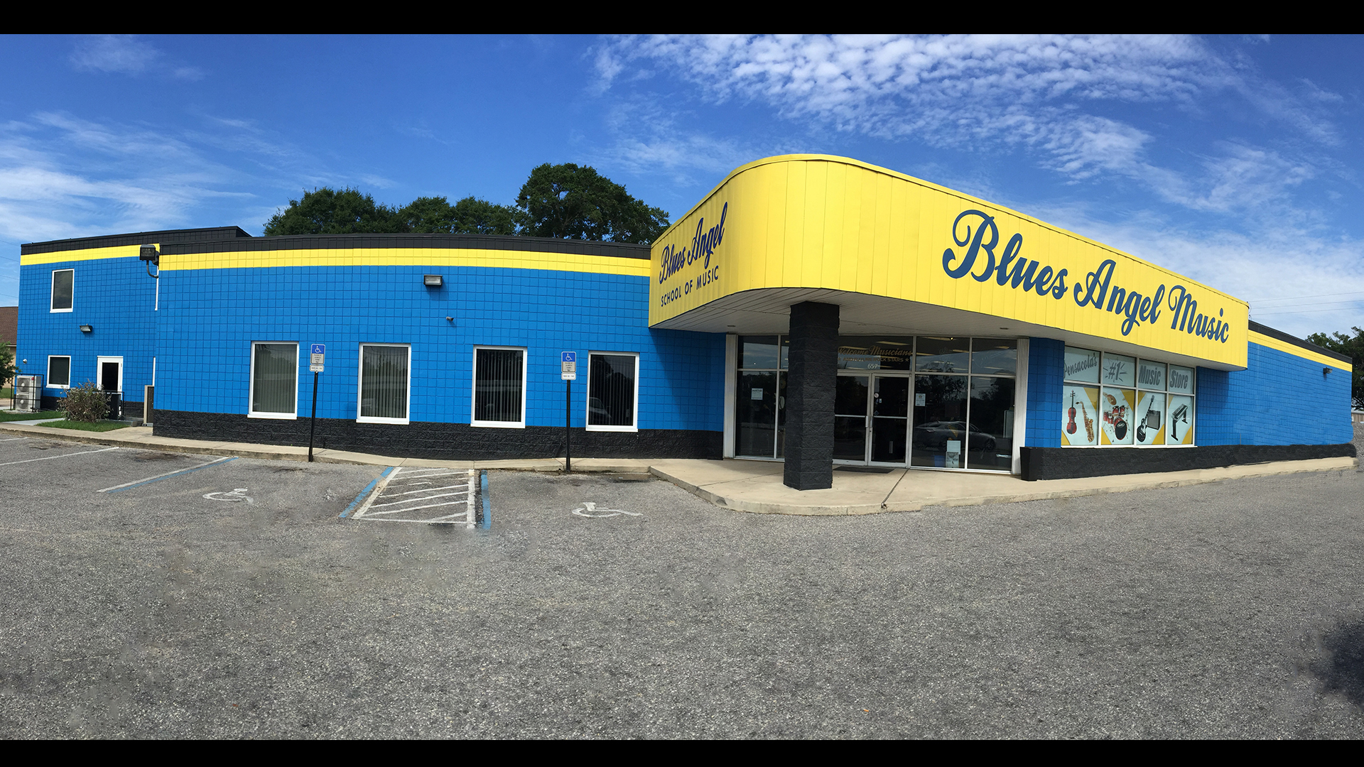 Blues Angel Music's brick-and-mortar store is located in Pensacola, FL.